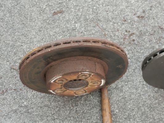 A damage Brake Rotor