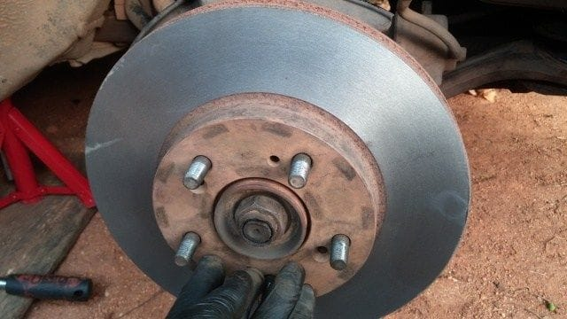 A resurfaces brake rotor