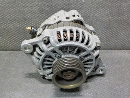 Shows example of alternator of a car