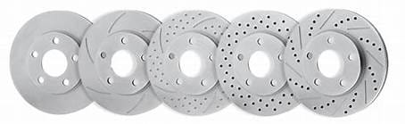 Shows sample images of brake disk design