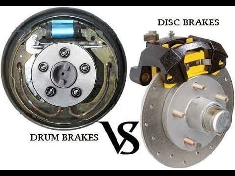 Differentiate Drum Brakes and Disk Brakes