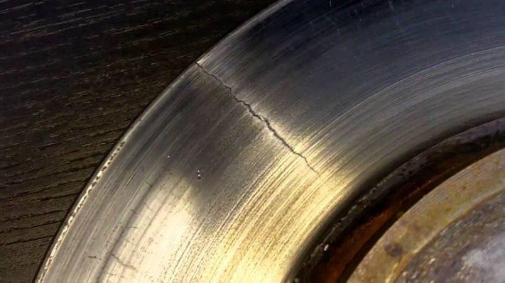 Side of Brake Rotor