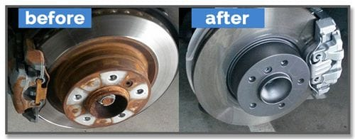 The Brake Caliper before and after