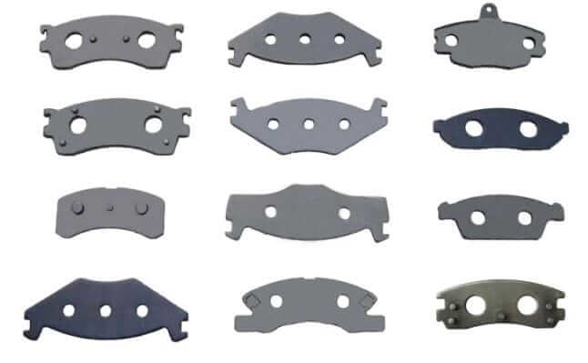 Different types of brake rotor pad backing plates