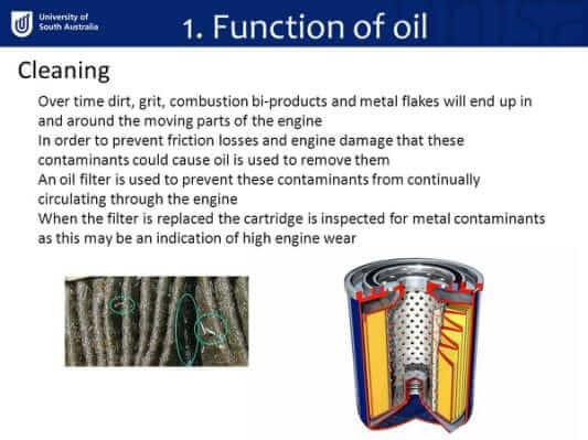 Function of Oil