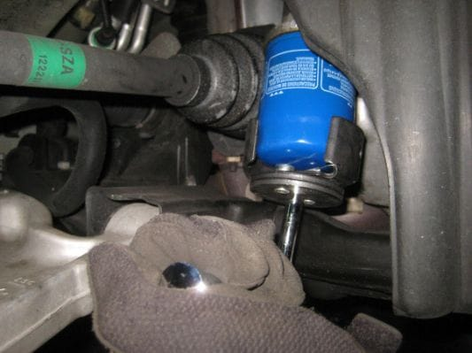 Oil Filter Removal Process