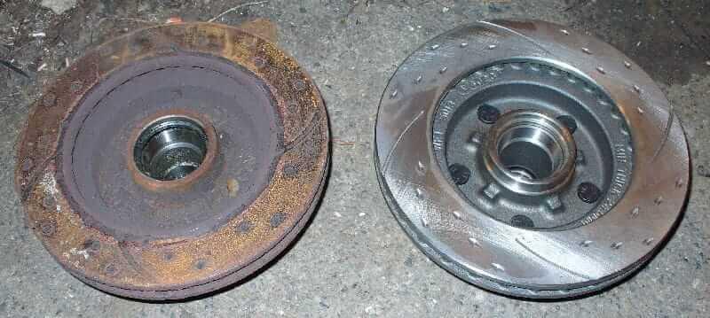 Replacing or resurface damaged brake rotors