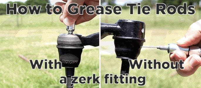 How to grease tie rod ends