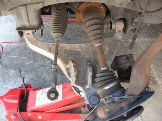 Removing the lower control arm