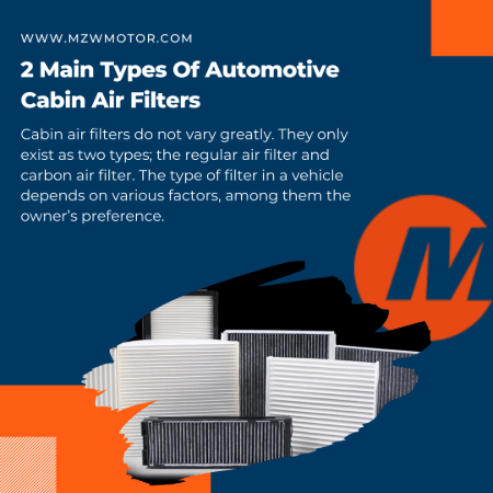 4 Types of Automotive Cabin Air Filters