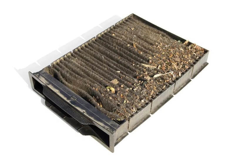 Dusty Cabin Air Filter