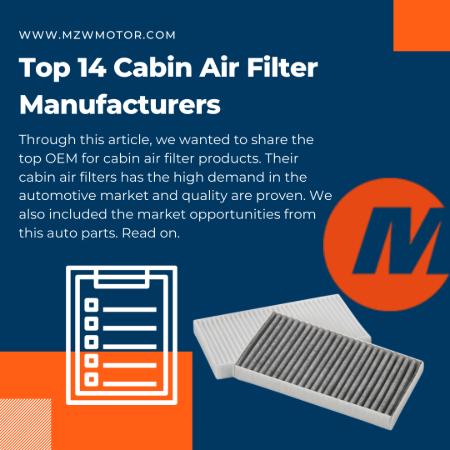 Cabin Air Filter Manufacturers List