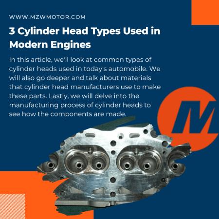 3 cylinder head types banner