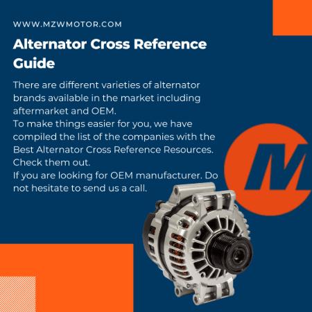 Alternator Cross Reference Guide