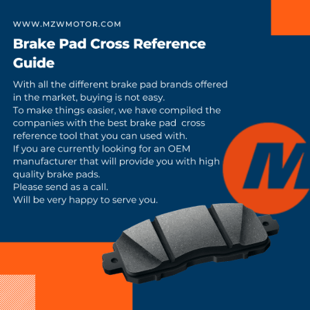 Brake Pads Cross Reference Guide