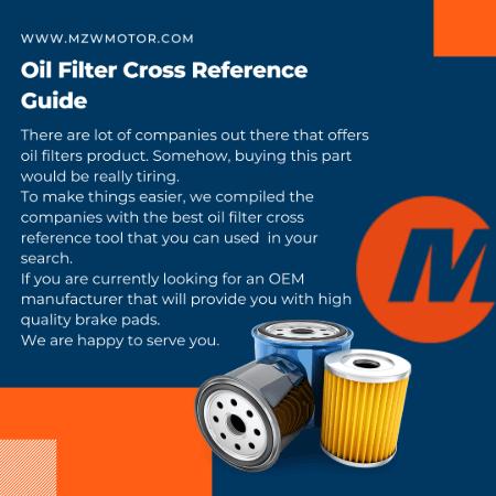 Oil Filter Cross Reference Guide Banner