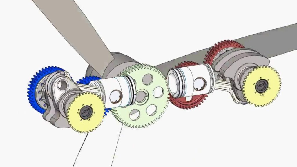 opposing piston engine