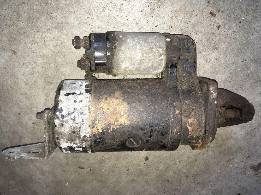 old starter motor