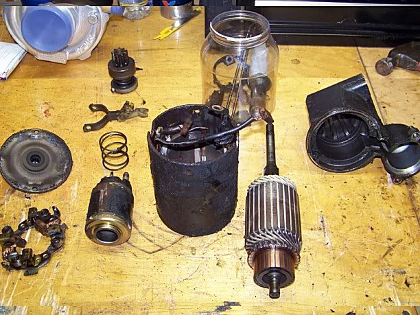 rebuilding an old starter motor