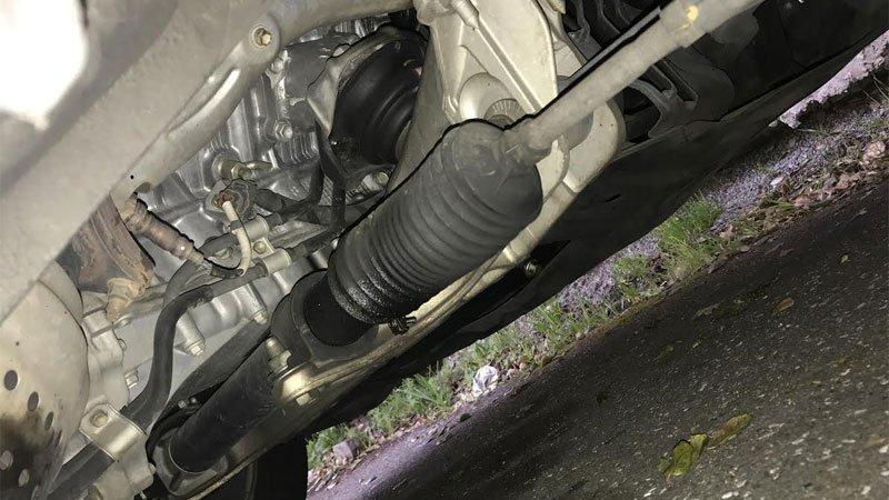 steering rack location