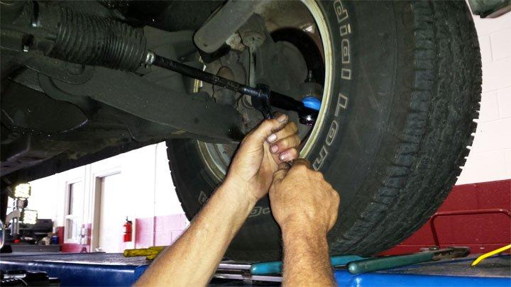 replacing tie rod end