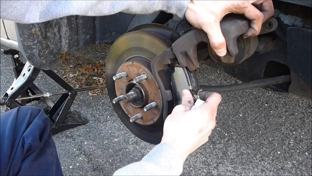removing old brake pad