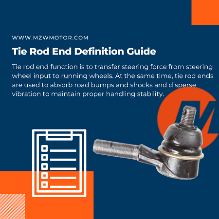 tie rod end guide