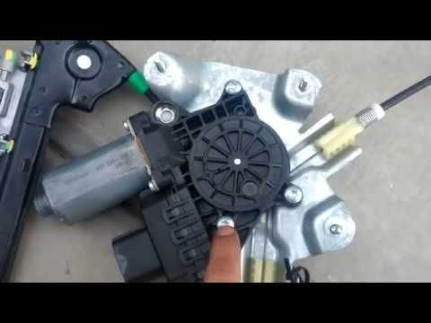 window regulator motor replacement in a cable type regulator