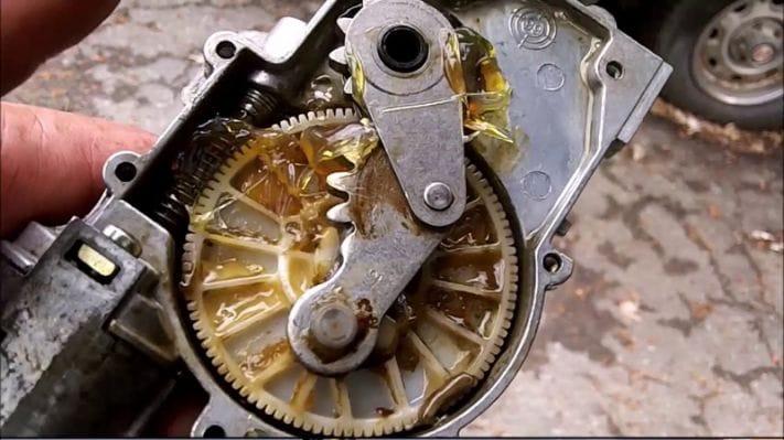 fixing wiper motor transmission parts