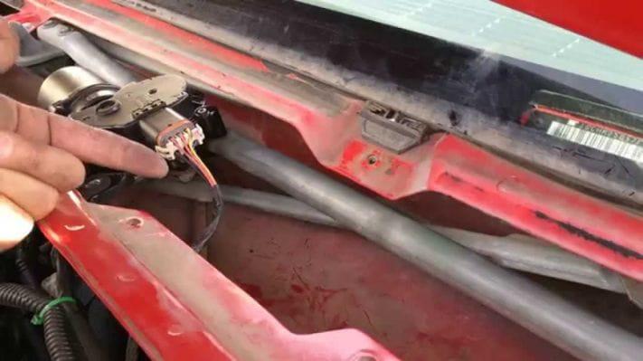 wiper motor removal