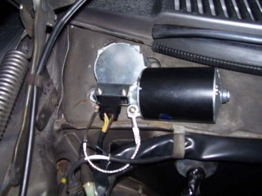 wiper motor installation