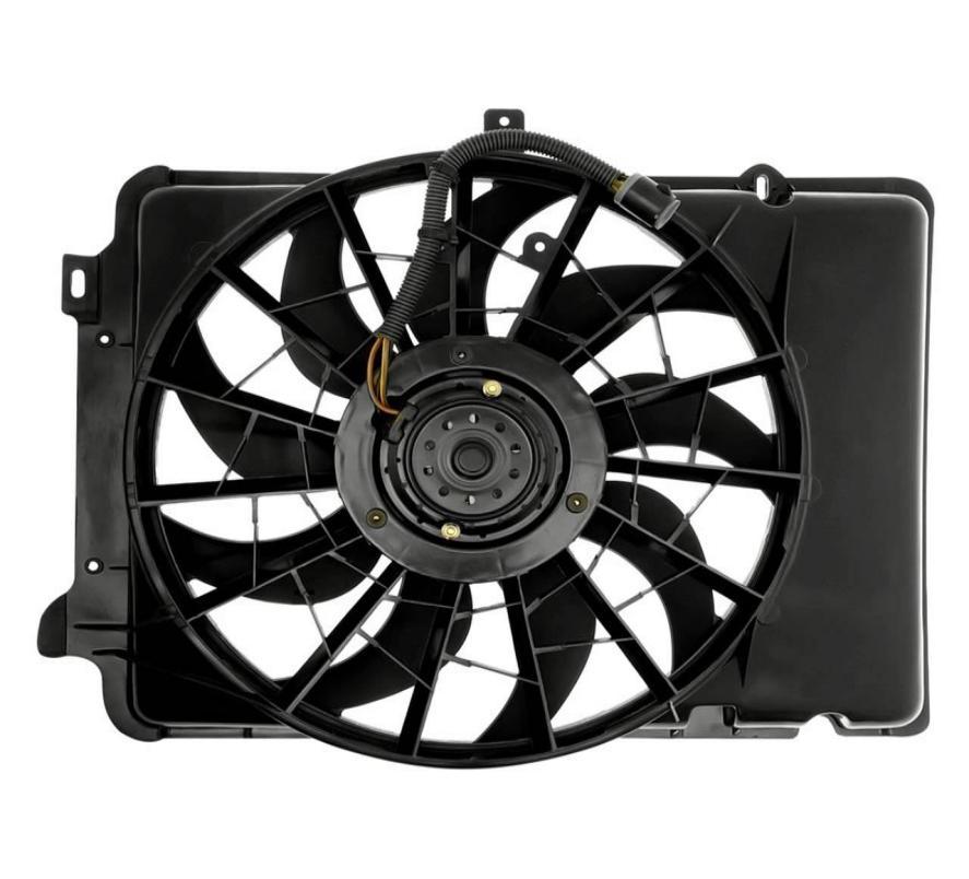 a typical car radiator fan