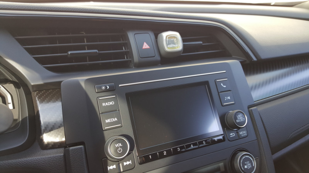 ar with AC vent air freshener installed
