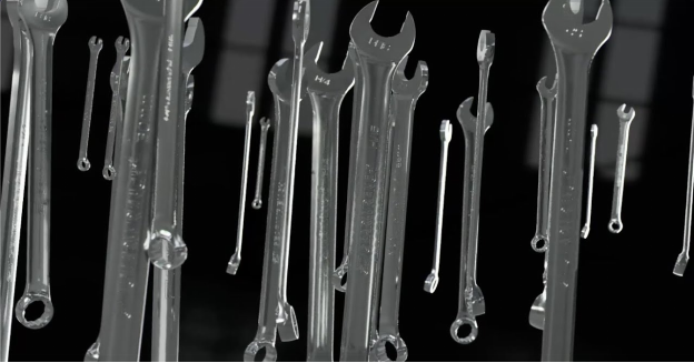 a collection of auto repair wrenches