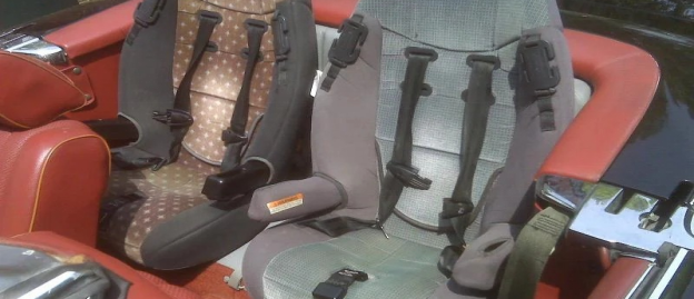 belt-in-seat popularly used in child safety seats