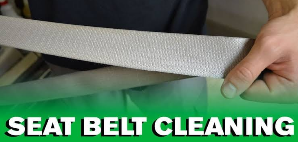 cleaning a sticking seat belt webbing