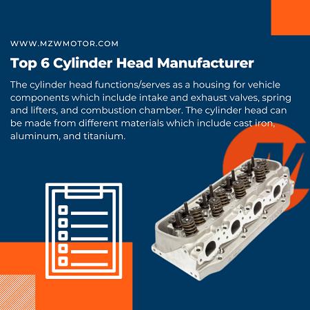 Top 6 Cylinder Head Manufacturer of 2021